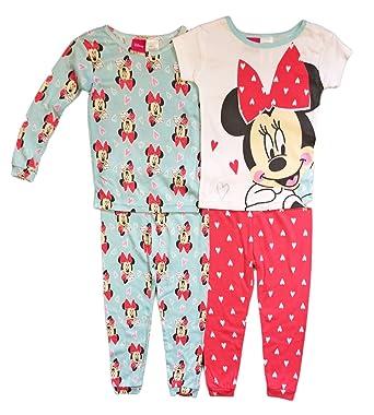 bdbaf1213539 Amazon.com  Disney Minnie Mouse Little Girls Toddler 4 Pc Cotton ...