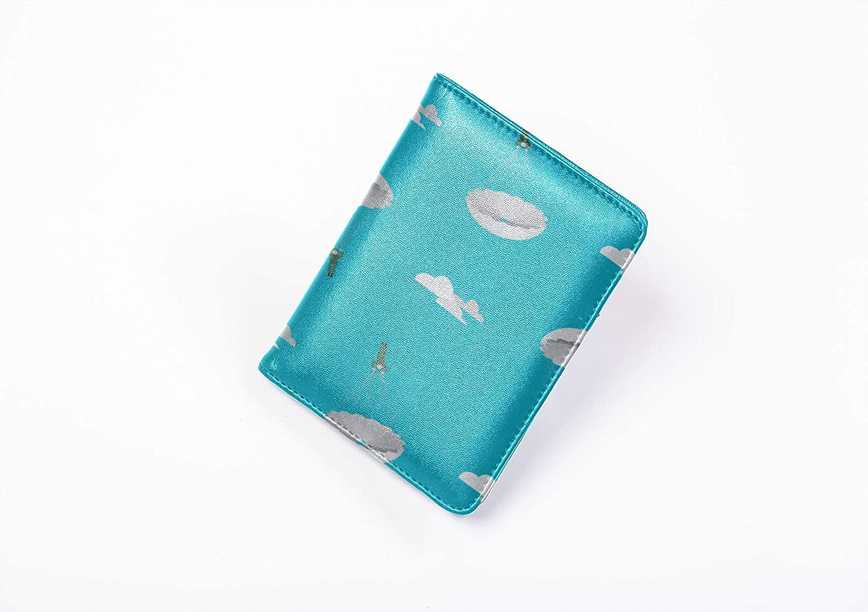 Usa Passport Cover Cute Romance Beautiful Parachute Passport Cases For Men Multi Purpose Print Passport Holder Hard Case Travel Wallets For Unisex 5.51x4.37 Inch
