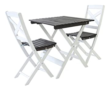 Ambientehome LOTTA Solid Wood Garden Balcony Table and Two ...