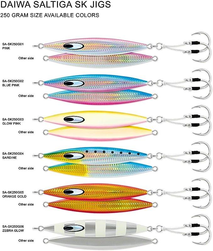 Free Ship Sardine -Pick Size Fishing Jig Daiwa Saltiga SK Slow Pitch Jigs