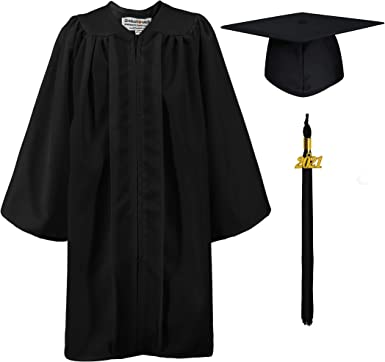 GraduationMall Preschool Graduation Cap Gown Stole Package with 2021 Tassel Certificate