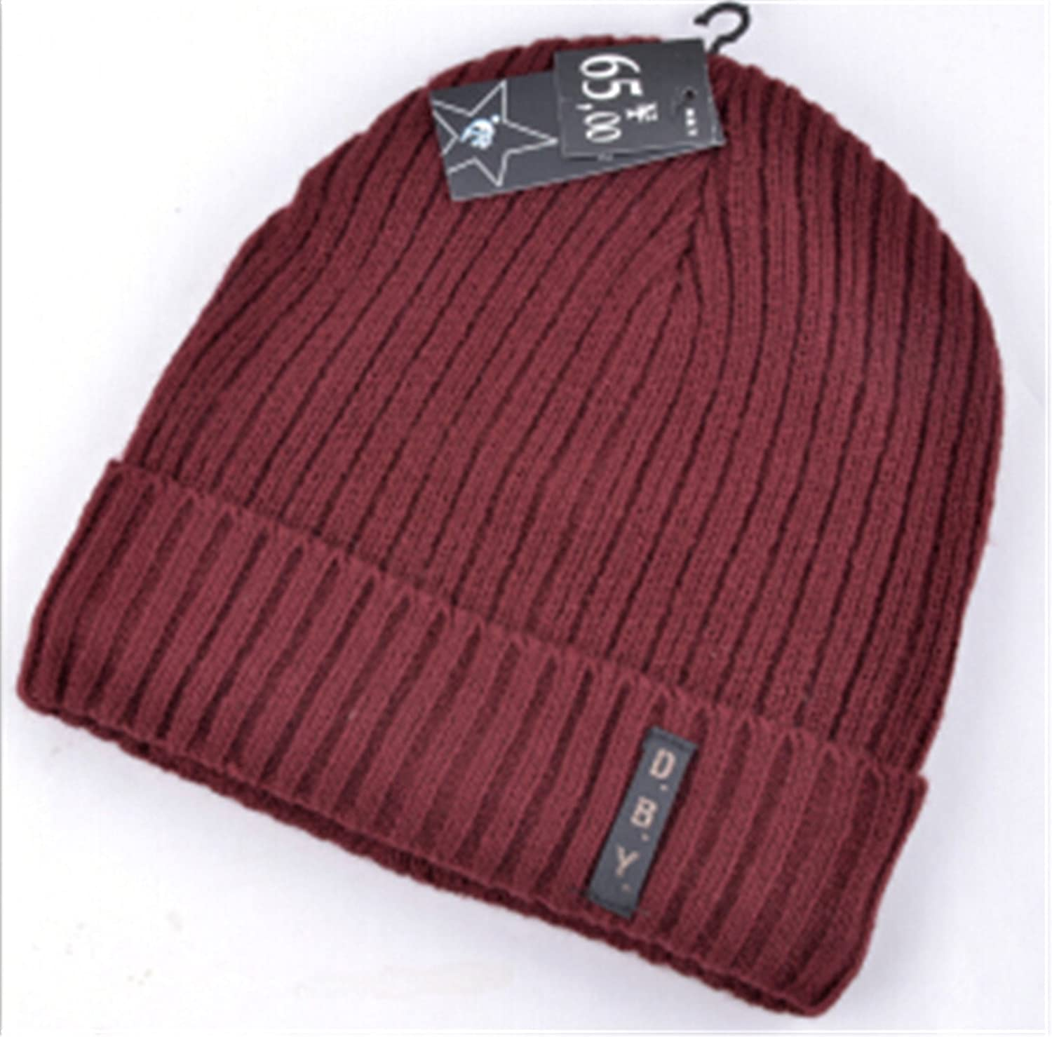 1eac8f22421 Amazon.com  Donna Pierce NEW mens designer hats bonnet winter beanie  knitted wool hat plus velvet cap skullies Thicker mask Fringe beanies for  men Crimson  ...
