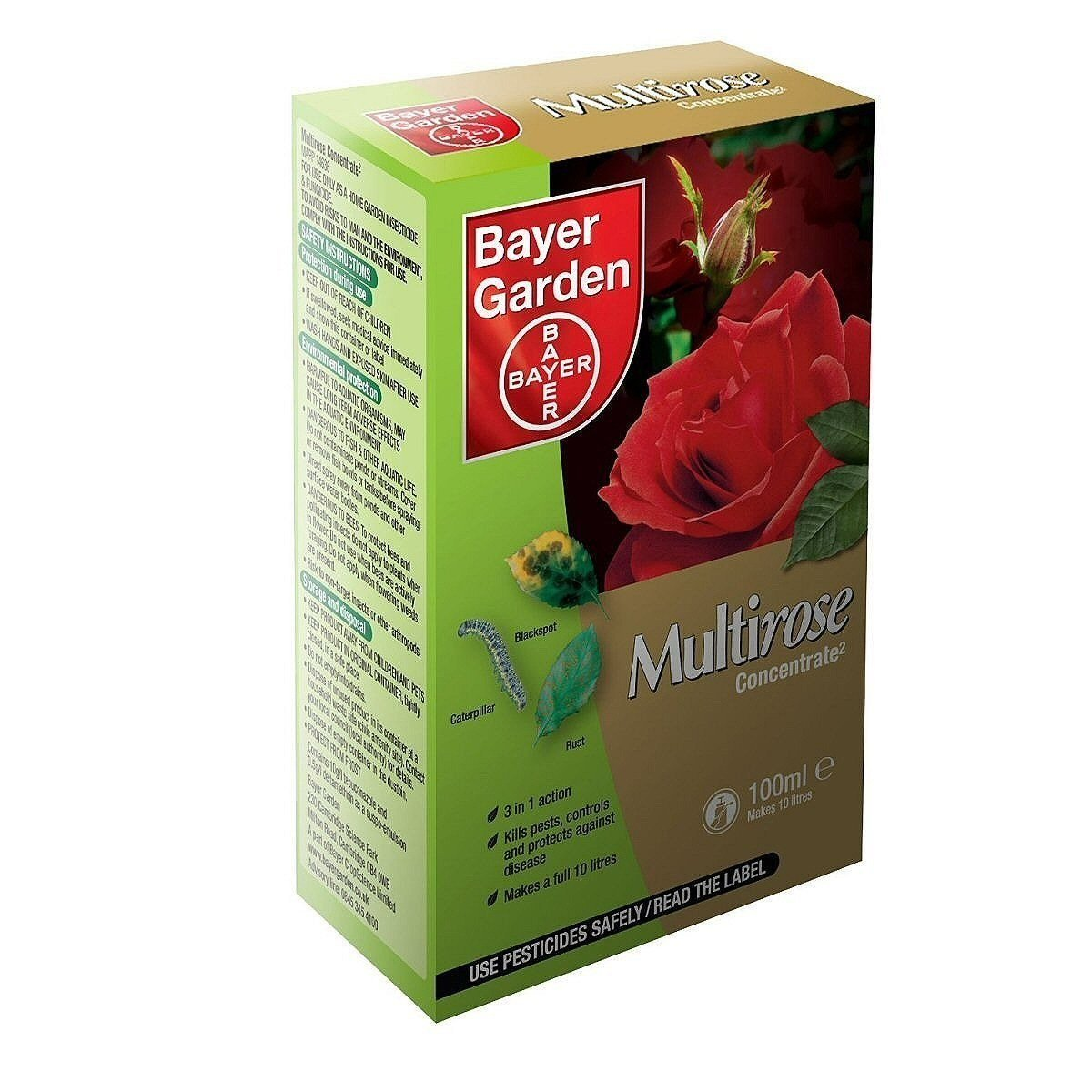 Bayer Garden Multirose 2 Concentrate 100ml Makes 10 litres Protects Roses Plants