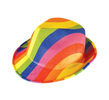 GCC Fashion Store Adults Gangster Trillby Pride Felt Hat Rainbow Carnival  Fancy Dress Accessory  Amazon.co.uk  Toys   Games 7172bb95316