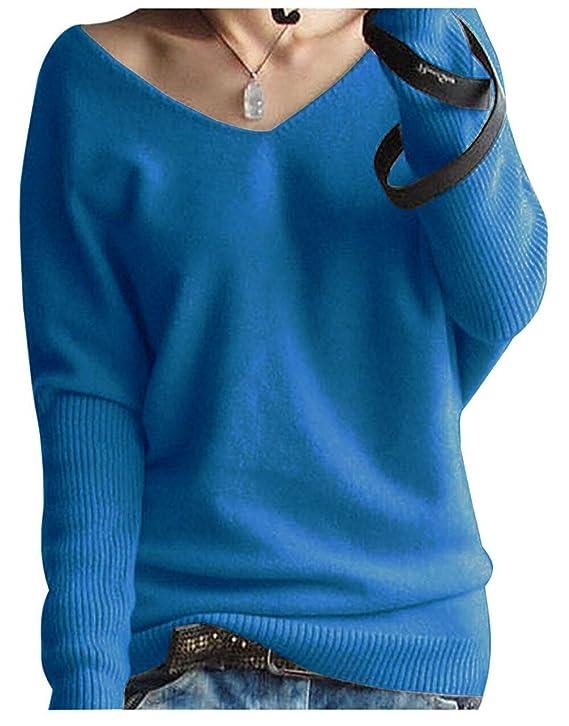 Suéter de lana, cachemir con cuello en V para mujerhttps://amzn.to/2FvsrUz
