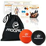 PROCIRCLE Massage Ball - Set of 2 - Lacrosse Ball & Stress Ball - Deep Tissue Massage Tool for Myofascial Release, Muscle Relax, Accupoint Massage, Physical Therapy