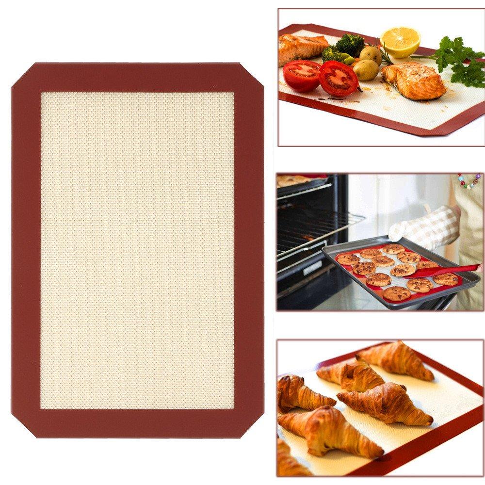 Athli Silicone Baking Pad Kneading Pad Barbecue Pad Non-Stick Picnic Baking Pad Set Food Grade Silicone Baking Pan