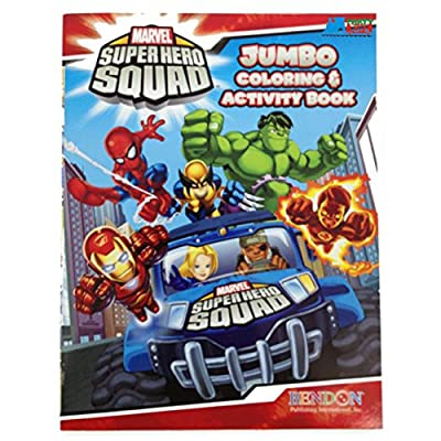 Marvel Super Hero Squad Jumbo 96 pg. Coloring and Activity Book durable service