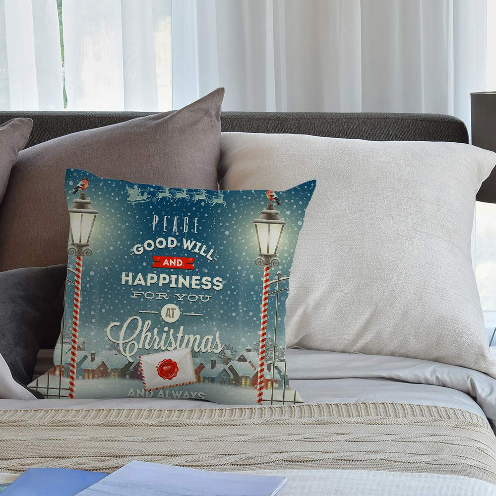 HGOD DESIGNS Fathers Day Throw Pillow Case,Hand Lettering Quote The Best Dad Cotton Linen Cushion Cover Square Standard Home Decorative for Men//Women 18x18 inch