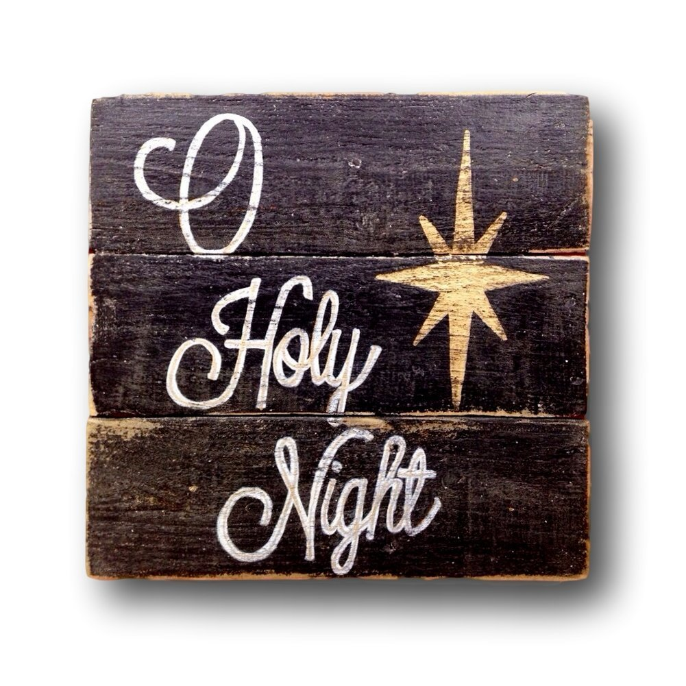 Amazon O Holy Night Sign Rustic Christmas Decor Handmade