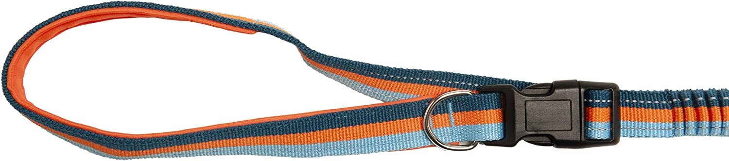 One Size Lavender Furhaven Pet Dog Leash Easy-Tether Adjustable Safety Reflective Stretchy Bungee Pet Leash for Dogs /& Cats