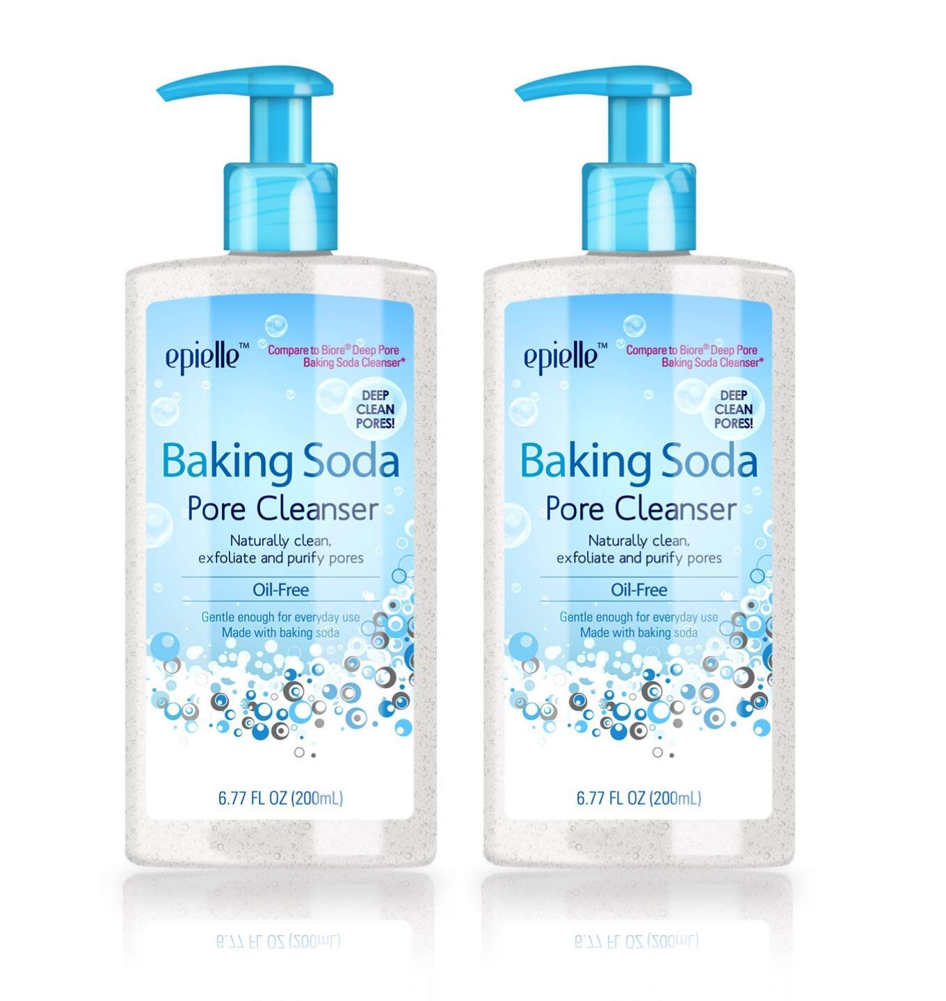Epielle Baking Soda Pore Cleanser   Great for Maskne   Facial Cleanser   Face Wash for Oily Skin   Detoxify and Purify   Exfoliate Dead Cells   Oil-Free Deep Pore Cleanser   6.77 FL OZ   2 Pack