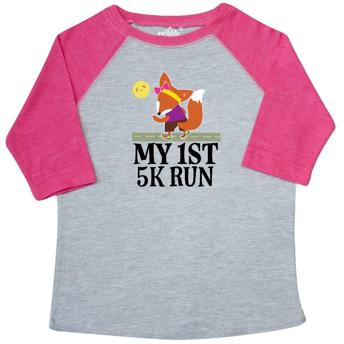 inktastic 5K Run First Race Fitness Running Toddler T-Shirt