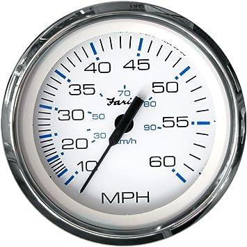 New Faria Chesapeake Stainless 80 MPH Boat Speedometer Gauge Speedo Pitot Type