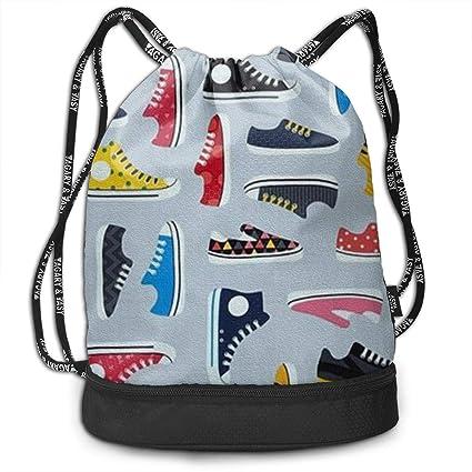 Amazon.com: Mochila de lona con cordón para zapatos, bolsa ...