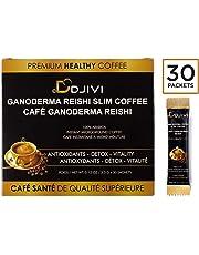 Dodjivi Ganoderma Reishi Mushroom Coffee Mix, Instant Coffee Herbal Blend - Dairy/Gluten Free, Keto Fast, Focus Paleo All Natural Energy Superfood - (30 Bags Per Box)