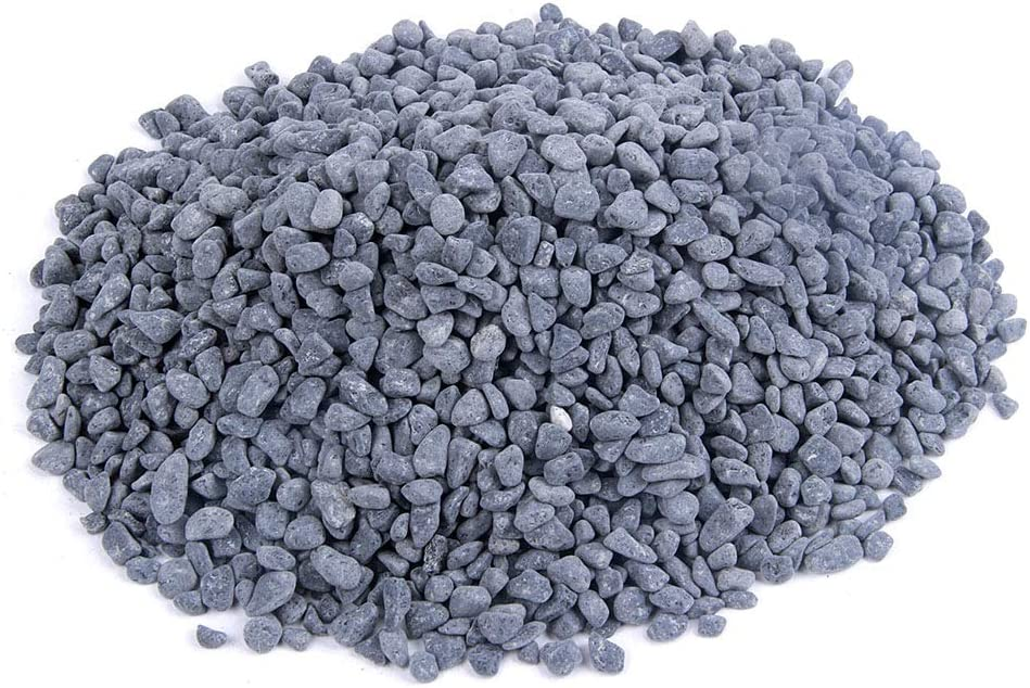 Rocks for Plants, Succulents, Fairy Garden Big 3lb Bulk Bag – 5mm Tumbled Crushed Natural Black Stone Pebbles for Decorating Bonsai Trees, Zen Garden, Succulent Plants