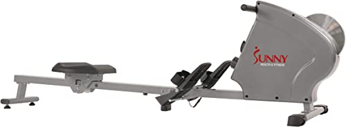 Sunny Health Fitness SF-RW5856 Magnetic Rowing Machine Rower with 11 LB Flywheel, 285 LB Max Weight, LCD Monitor and Tablet iPad Holder