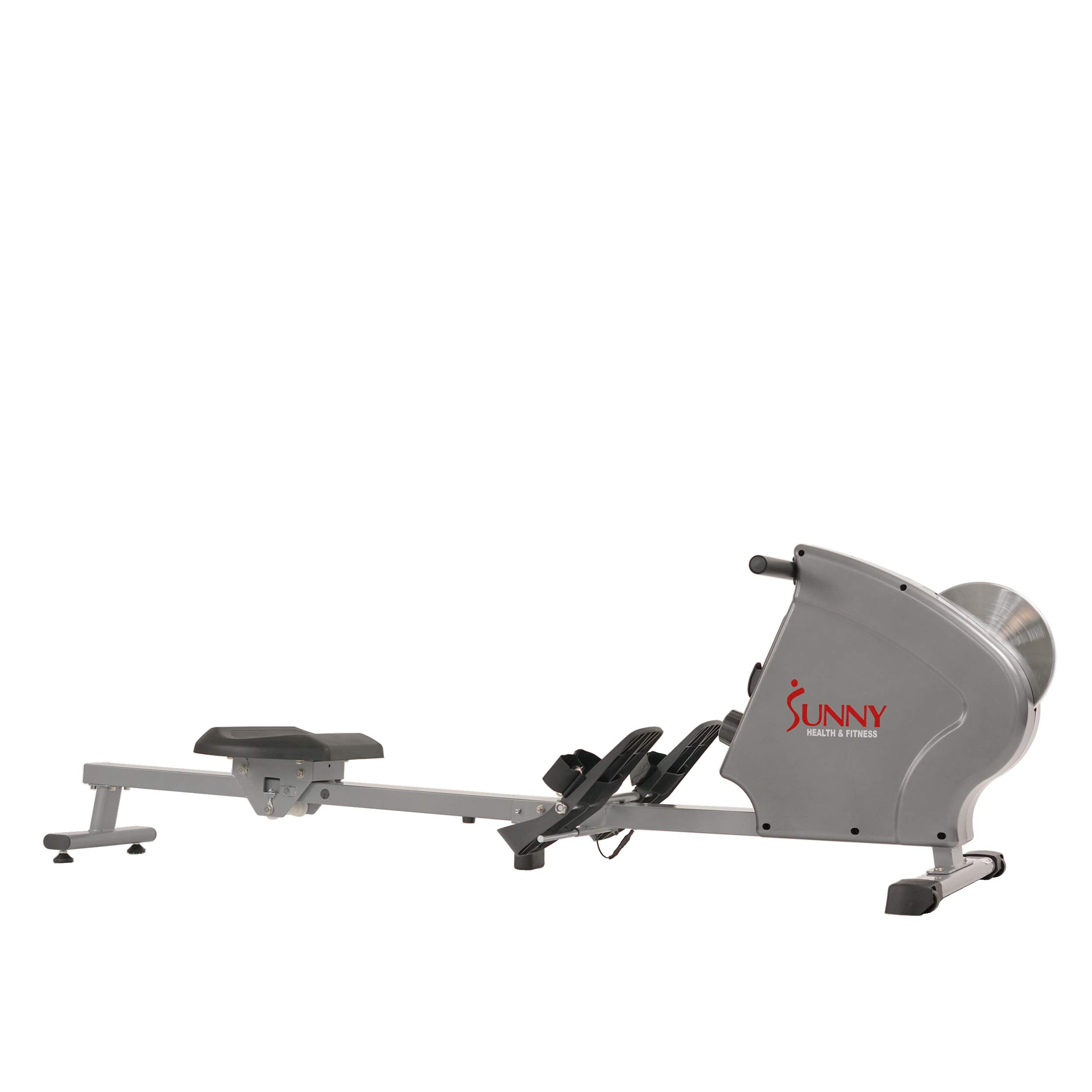 Sunny Health & Fitness SF-RW5856 Magnetic Rowing Machine Rower, 11 lb. Flywheel and LCD Monitor with Tablet Holder, Gray by Sunny Health & Fitness (Image #8)
