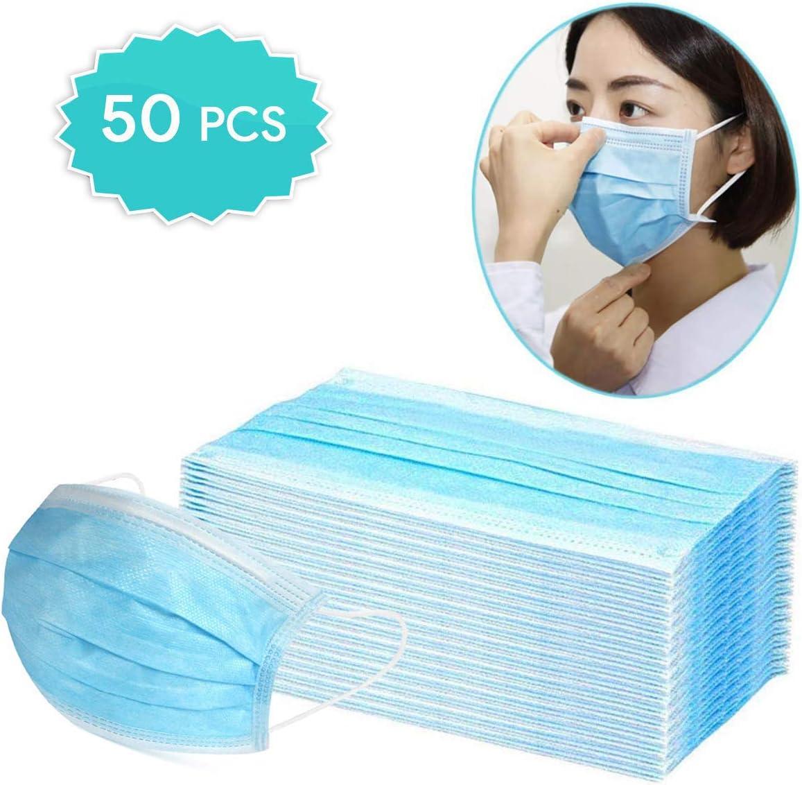Dispositivos para protección diaria contra el polvo, almohadillas finas desechables con bucles elásticos para los oídos, almohadillas de seguridad desechables que cubren la mitad de la cara