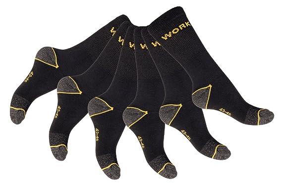 """6 pares resistente especial de calcetines de trabajo """"Work con interior Rizo –"""