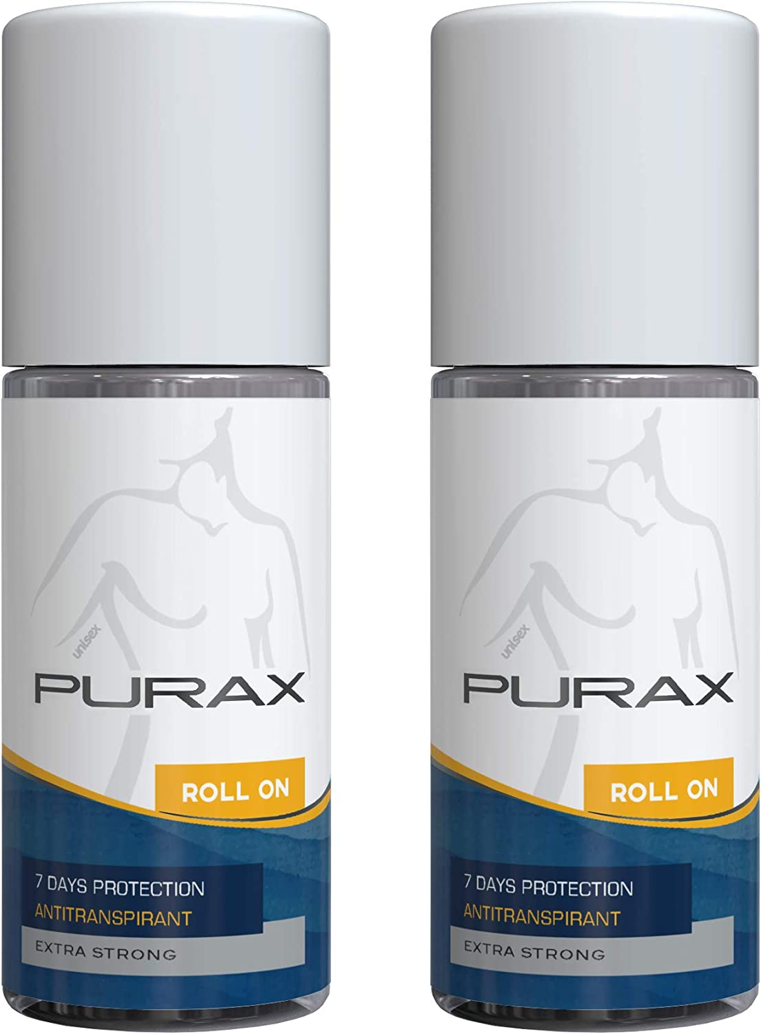 Purax Extra-Strong Double Pack Antiperspirant Roll-On 50Ml: Amazon ...