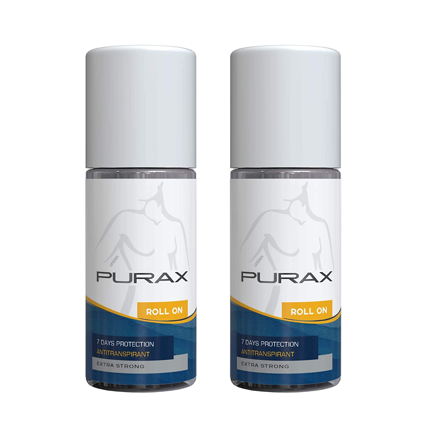 PURAX Extra-Strong Double Pack Antiperspirant Roll-On 50ml