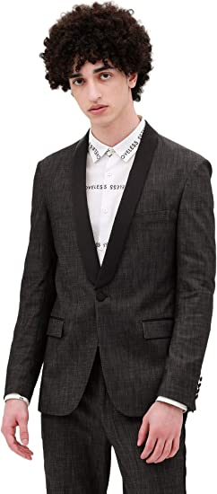 [ラブレス] LOVELESS メンズ ショールカラー ストレッチデニム タキシードジャケット