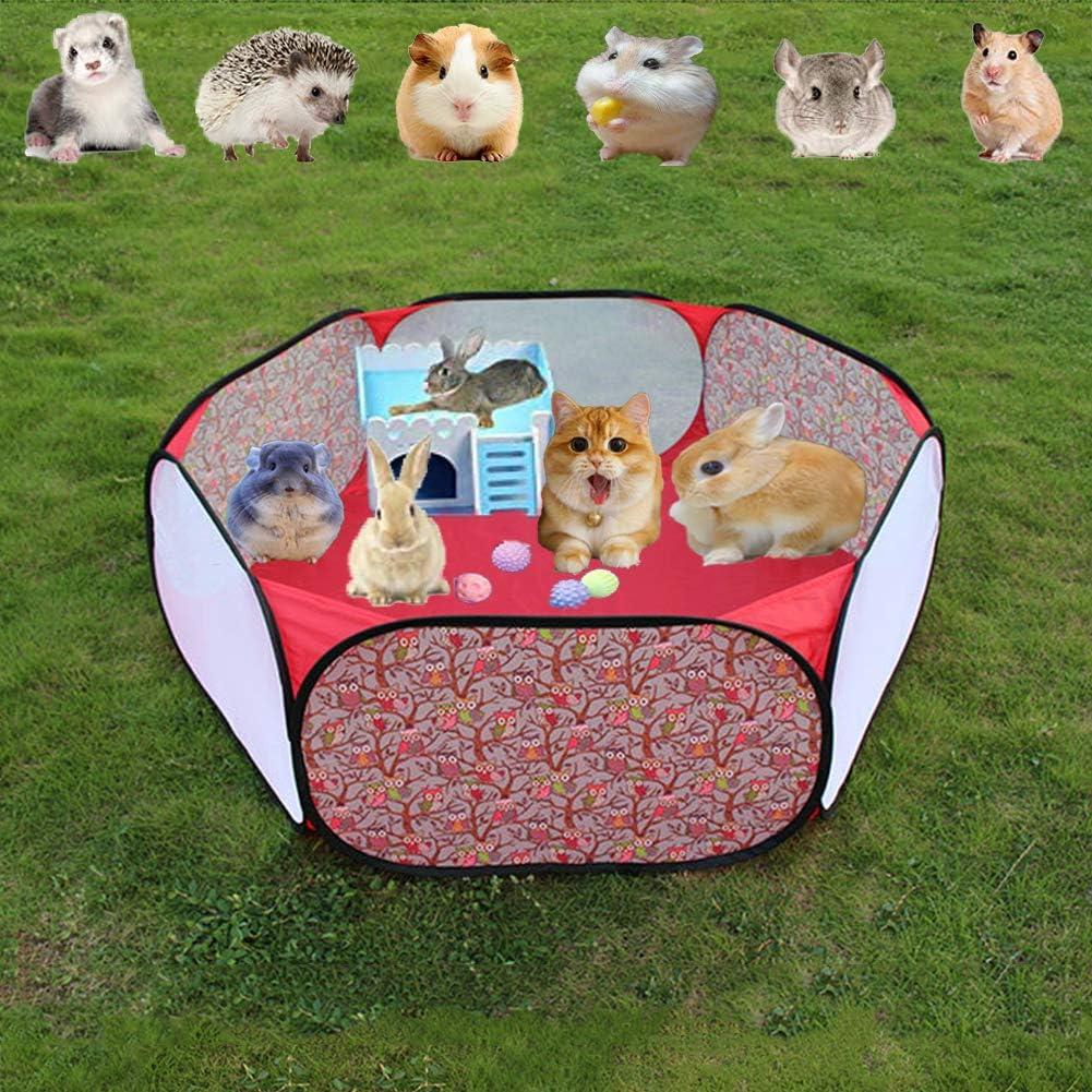 Jaula para mascotas de jardín con forma de parque de conejo, para reptiles, hámster, valla de ejercicio, para chinchilla, erizo, casa de cobayas