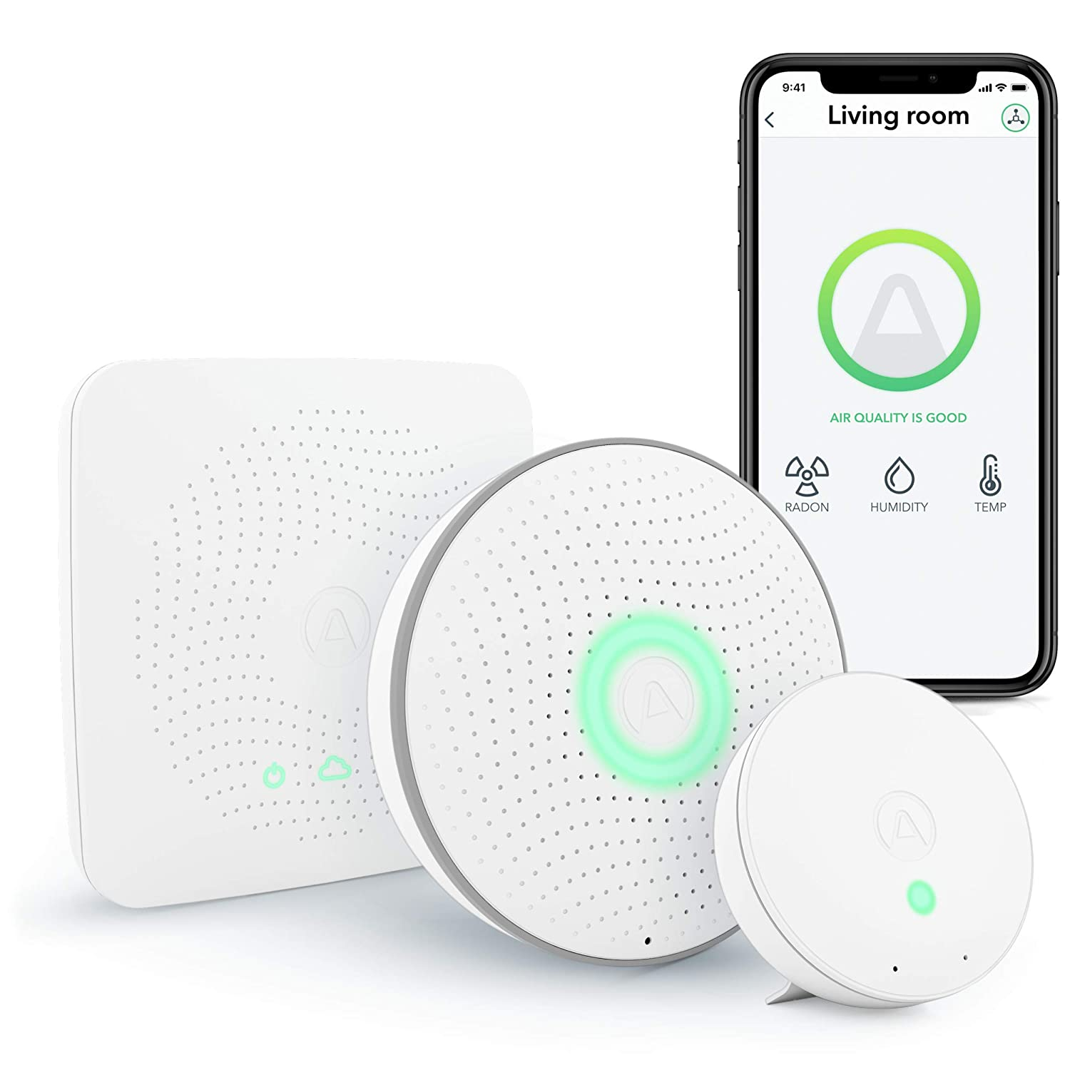 Airthings House Kit, Radon and Indoor Air Quality Monitoring System, Multi-Room