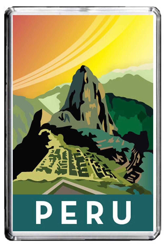 B238 PERU KÜHLSCHRANKMAGNET PERU VINTAGE TRAVEL PHOTO REFRIGERATOR MAGNET CALENDARSFORLOVE