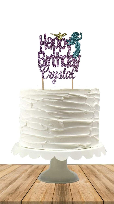 Awe Inspiring Amazon Com Jasmine Cake Topper Princess Jasmine Aladdin Cake Personalised Birthday Cards Petedlily Jamesorg