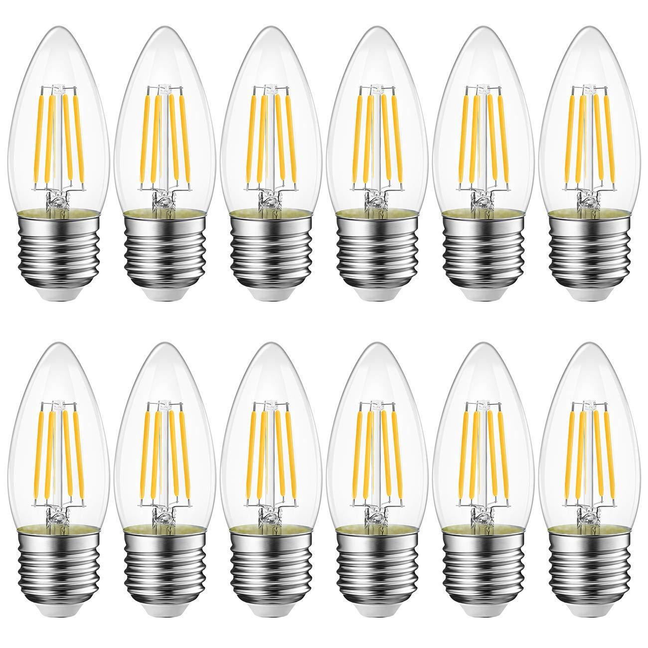 2700K Lampadine LED Filamento Edison Stile Vintage Non-dimmerabile LVWIT Forma ST64 806LM 8W Equivalenti a 60W Confezione da 6 Pezzi Lampadine a LED Attacco E27 Luce Bianca Calda