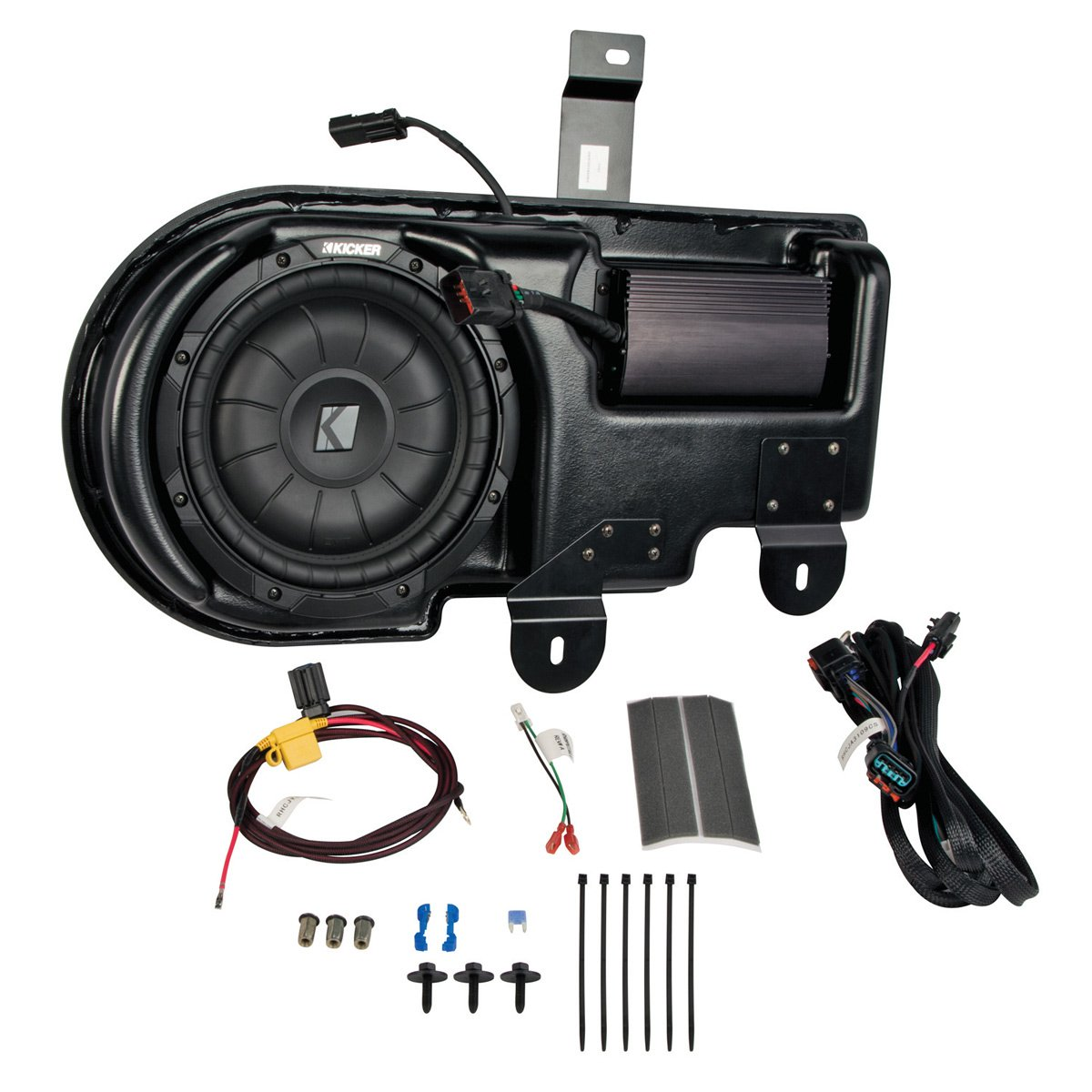Kicker SF150C09 Powered Subwoofer Upgrade Kit For 2009-2014 Ford F-150 Super Crew