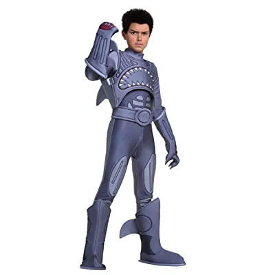 Sharkboy Costume Kids Sharkboy and Lavagirl Costume Officially Licensed Large: Clothing