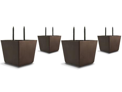 Opción piezas 5,08 cm trípticas trisquel nogal marrón plástico EBUY patas (pack de
