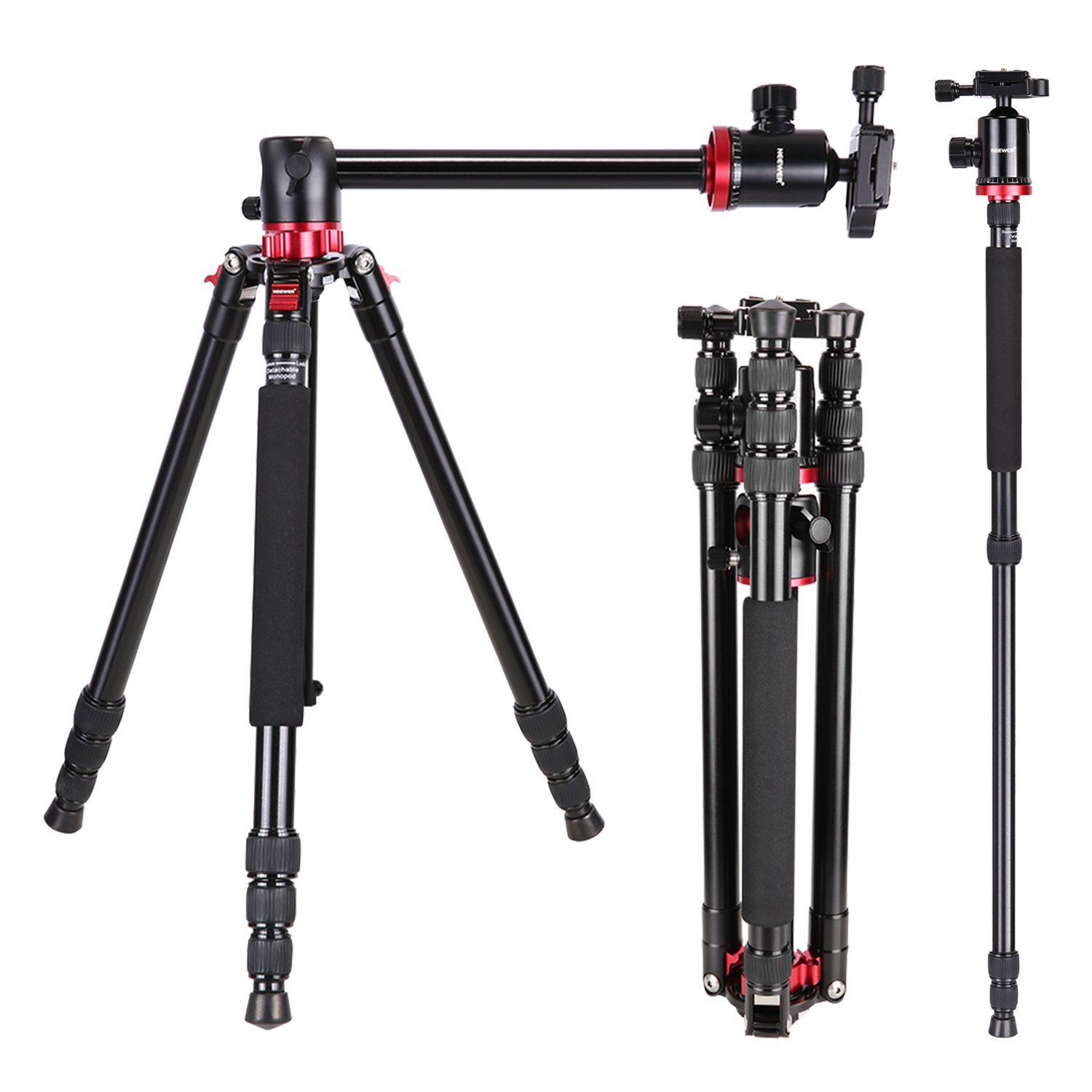 Neewer Camera Tripod Monopod with Rotatable Center Column...