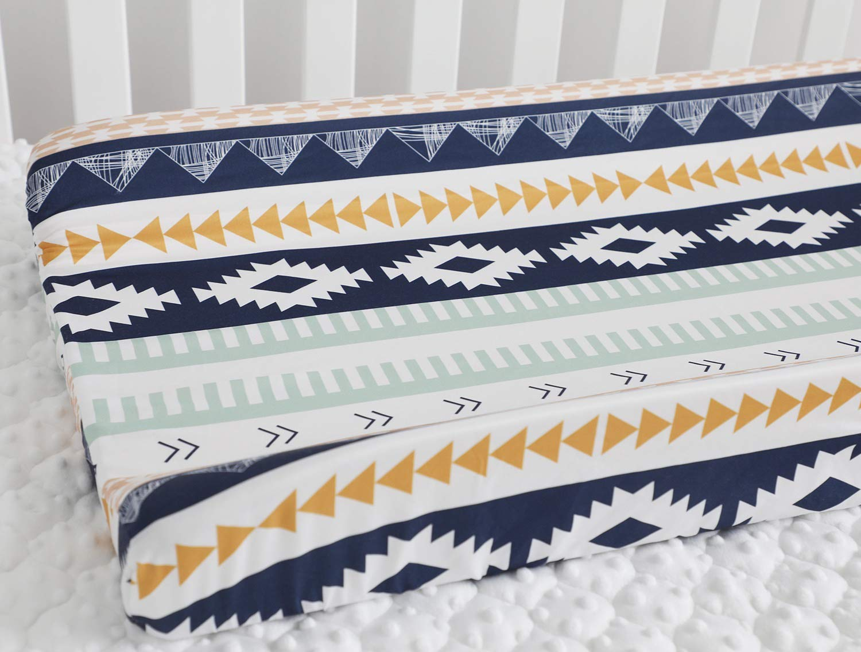 Baby Boy Crib Bedding Aztec Changing Pad Cover (Aztec)