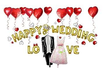 Amazon goer wedding decoration suppliesgold happy wedding goer wedding decoration suppliesgold happy wedding love alphabet letters foil balloons setinclude junglespirit Gallery