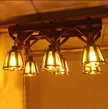 JCRNJSB® Lámparas de techo de estilo chino Retro Bamboo Arts ...