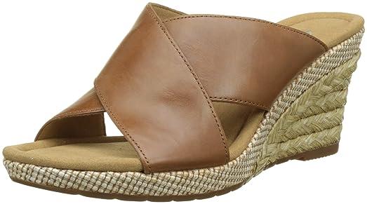 EU Marrón Mujer Cuña Sandalias Bast 41 para Comfort con Mutaro Gabor Shoes wxpqg1Fa