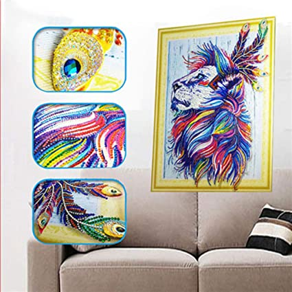 LX/_ FLOWER RESIN DIAMOND PAINTING PARTIAL DRILL CROSS STITCH HOME WALL DECOR N