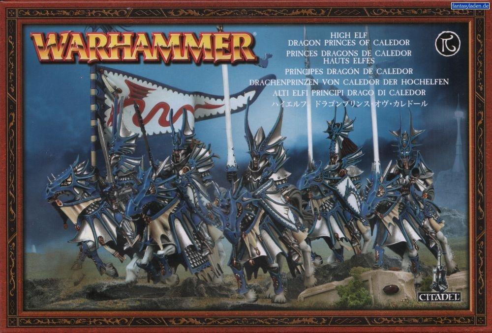 Games Workshop Warhammer High Elves: Dragon Princes of Caledor Citadel Miniatures Set