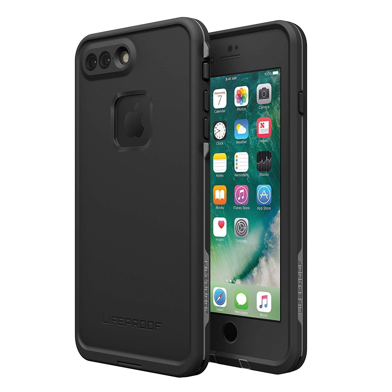 Lifeproof FRĒ SERIES Waterproof Case for iPhone 7 Plus (ONLY) - Retail Packaging - ASPHALT (BLACK/DARK GREY) by LifeProof