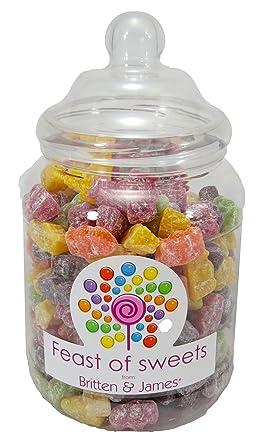 Jelly Babies 14kg Big Feast Of Sweets Jar By Britten James Traditionelle Englische Süßigkeiten In Einem Plastikglas 2250ml Lovely Geschenk Für