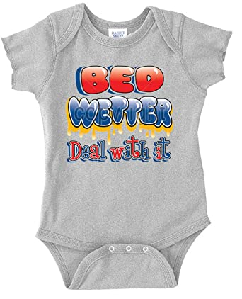 984617662c81 Amazon.com  U.S. Custom Kids Bed Wetter Deal With It Infant Bodysuit ...