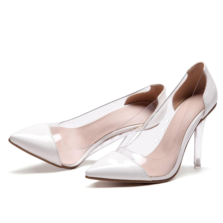 CXQ-Heels Qin&X Frauen Spitzen Spitzen Spitzen Zehe Stiletto Flachen Mund Prom High Heels Hochzeit Pumps Pumpen 29855a