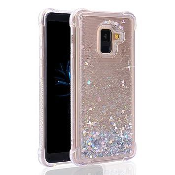 more photos 543b5 88613 Amazon.com: Galaxy A8 2018 Case Glitter, Moon mood Sparkle Clear ...