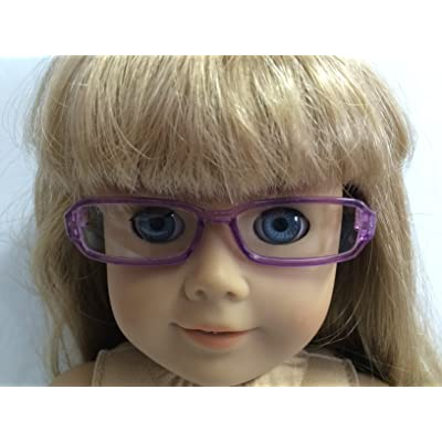 Dori's Doll Boutique Purple Rimmed Eyeglasses Made for 18 inch American Girl Dolls: Toys & Games