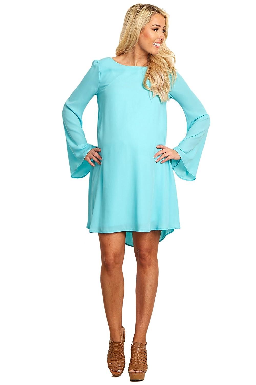 PinkBlush Maternity Chiffon Bell Sleeve Dress at Amazon Women\'s ...